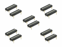 Delock DIP switch Tri-State 8-digit 2.54 mm pitch THT vertical black 10 pieces