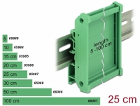 Delock Board Holder (72 mm) for DIN Rail 25 cm long