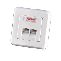 ROLINE Faceplate for Flush Mount Wall Jack ivory