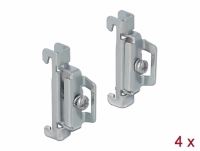 Delock DIN Rail End Clamp Stainless Steel screwable 4 pieces