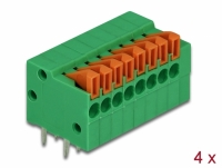 Delock Terminal block with push button for PCB 8 pin 2.54 mm pitch horizontal 4 pieces