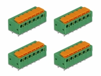 Delock Terminal block with push button for PCB 6 pin 5.08 mm pitch horizontal 4 pieces