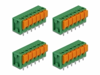 Delock Terminal block with push button for PCB 6 pin 5.08 mm pitch vertical 4 pieces