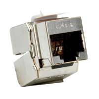 ROLINE Cat.6/Class E Keystone Jack, RJ-45, shielded, toolless silver