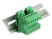 Delock Terminal Block Set for DIN Rail 6 pin with pitch 5.08 mm angled