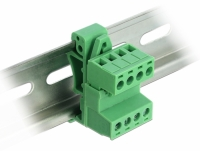 Delock Terminal Block Set for DIN Rail 4 pin with pitch 5.08 mm angled