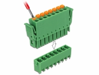 Delock Terminal block set for PCB 8 pin 3.81 mm pitch vertical