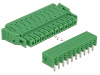 Delock Terminal block set for PCB 10 pin 3.81 mm pitch horizontal