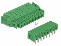 Delock Terminal block set for PCB 8 pin 3.81 mm pitch horizontal