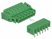 Delock Terminal block set for PCB 6 pin 3.81 mm pitch horizontal