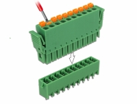 Delock Terminal block set for PCB 10 pin 3.81 mm pitch vertical