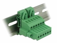 Delock Terminal block set for DIN rail 6 pin with screw lock