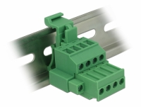 Delock Terminal block set for DIN rail 4 pin with screw lock