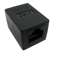 VALUE RJ-45 Modular Coupler, Cat.6, unshielded, black