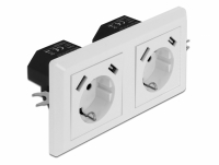 Delock 2-Way Wall Socket with 4 x USB Type-A Charging Port 2 x 2.8 A