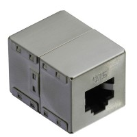 VALUE RJ-45 Modular Coupler, Cat.6, shielded, silver
