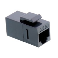 VALUE RJ-45 Keystone Modular Coupler, Cat.6, unshielded, black