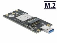 Delock USB 3.0 Converter Type-A male to M.2 Key B with SIM slot