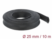 Delock Braided Sleeving stretchable 10 m x 25 mm black