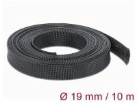 Delock Braided Sleeving stretchable 10 m x 19 mm black