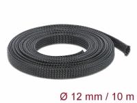 Delock Braided Sleeving stretchable 10 m x 12 mm black