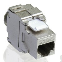 VALUE Cat.6a Keystone, RJ-45, shielded, toolless silver