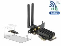 Delock PCI Express Card Dual band Wi-Fi 6 WLAN ax/ac/a/b/g/n 2400 Mbps + Bluetooth 5.1
