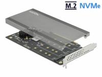 Delock PCI Express x16 Card to 4 x internal NVMe M.2 Key M