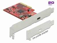 Delock PCI Express x4 Card to 1 x external SuperSpeed USB 20 Gbps (USB 3.2 Gen 2x2) USB Type-C™ female