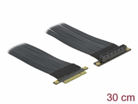 Delock Riser Card PCI Express x8 to x8 with flexible cable 30 cm