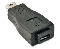 USB Adapter, USB Micro-B Female to Mini-B Male