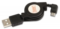 Retractable USB 2.0 Cable, USB Type /Micro-B cable