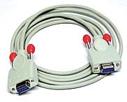 Cable for chip card reader 9-pin 1:1 coupling/coupling 2 m