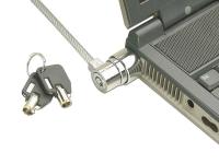 Notebook Security Cable, Barrel Key Lock
