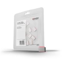 USB Type C Port Blockers, pink, 10pcs