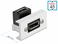 Delock Easy 45 DisplayPort Module angled 90° 22.5 x 45 mm