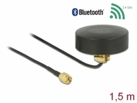 Delock WLAN 802.11 b/g/n Antenna RP-SMA plug 2 dBi fixed omnidirectional with connection cable RG-174 1.5 m outdoor black