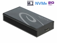 Delock External Enclosure for M.2 NVMe PCIe SSD with SuperSpeed USB 20 Gbps (USB 3.2 Gen 2x2) USB Type-C™ female