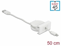 Delock Easy 45 Module USB 2.0 Retractable Cable USB Type-A to 8 Pin Lightning female white