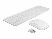Delock USB Keyboard and Mouse Set 2.4 GHz wireless white