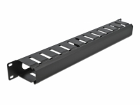 Delock 19″ Cable Management Routing Panel with 2 openings 1U black