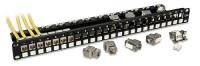 Lindy CAT6A 10G Premium Patch Panel with 24x RJ45 STP Keystones
