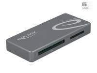 Delock USB Type-C™ Card Reader for CFast and SD memory cards + USB Hub with Type-A and USB Type-C™ port