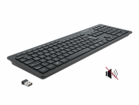 Delock USB Keyboard 2.4 GHz wireless black - Silent
