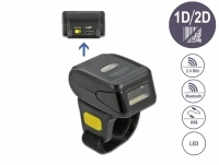 Delock Ring Barcode Scanner 1D and 2D with 2.4 GHz or Bluetooth