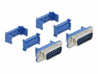 Delock D-Sub 15 male with insulation displacement 2 pieces
