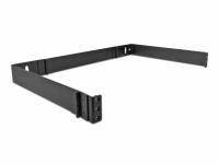 Delock 19″ Wall Mount Rack 1U foldable black