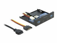 Delock 3.5″ USB 3.2 Gen 1 Front Panel 2 x USB Type-C™ + 2 x USB Type-A