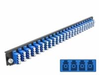 Delock 19″ Splice Box Front Panel 24 port LC Quad blue