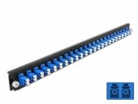 Delock 19″ Splice Box Front Panel 24 port LC Duplex blue